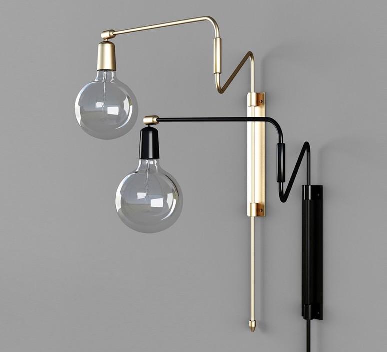 Wall Light Swing Black L35cm Cm House Doctor Nedgis Lighting