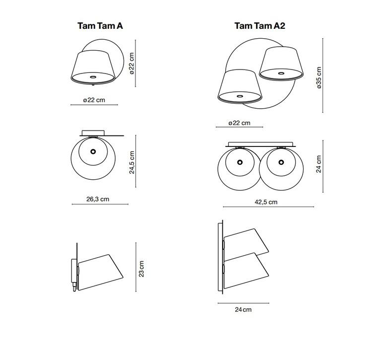 Tam tam fabien dumas marset a633 011 45 a633 013 35 luminaire lighting design signed 18205 product