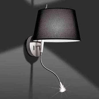 Applique murale tango noir led h53cm faro normal