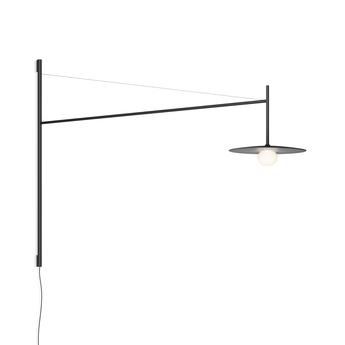 Applique murale tempo 5756 graphite 0led 2700k 300lm l122 5cm h80cm vibia normal