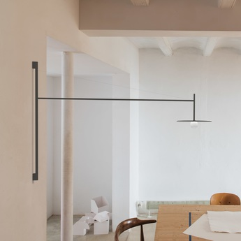 Applique murale tempo 5757 graphite 0led 2700k 300lm l122 5cm h80cm vibia normal