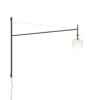 Applique murale tempo 5758 graphite 0led 2700k 300lm l116 5cm h80cm vibia normal