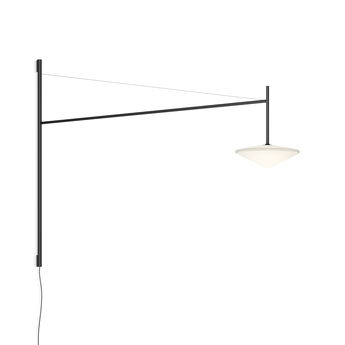 Applique murale tempo 5760 graphite 0led 2700k 300lm l120cm h80cm vibia normal