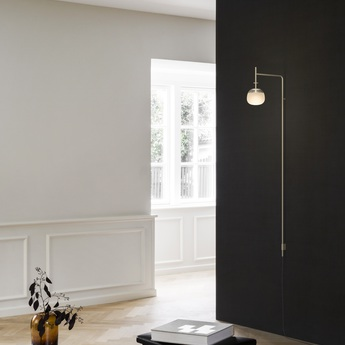 Applique murale tempo 5764 beige 0led 2700k 300lm l36 5cm h140cm vibia normal