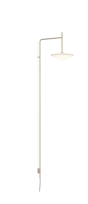 Applique murale tempo 5766 beige 0led 2700k 300lm l40 3cm h140cm vibia normal