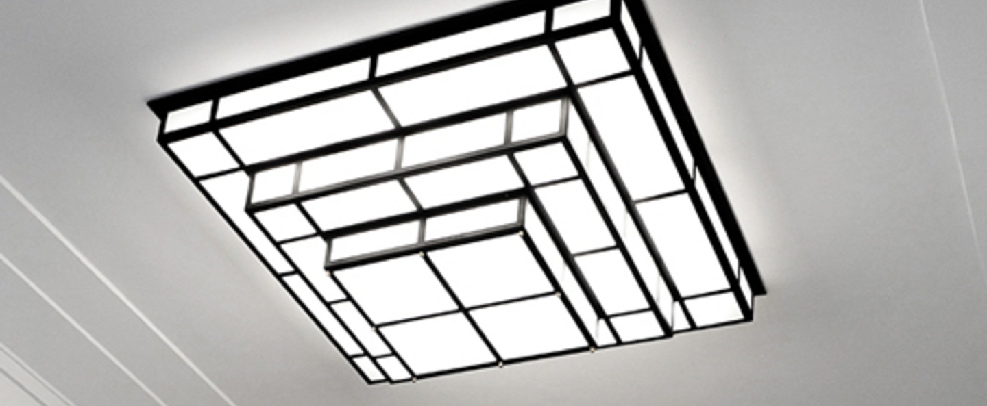 Applique murale tesseract 1200 noir led l120cm p40cm raphael armand normal
