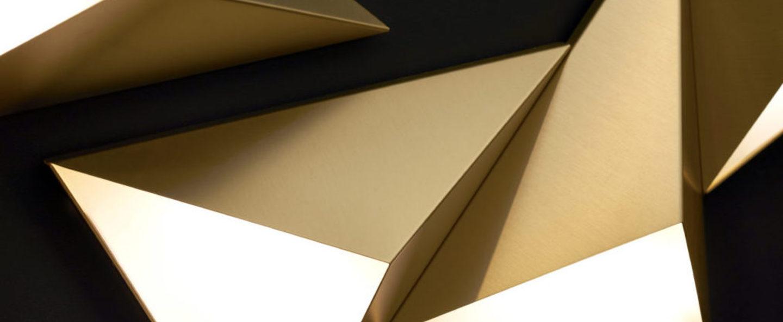 Applique murale tetra laiton led l26cm h31cm cvl normal