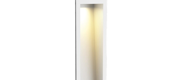 Applique murale themis 5 0 blanc aluminium brosse led l8cm h47cm wever ducre normal