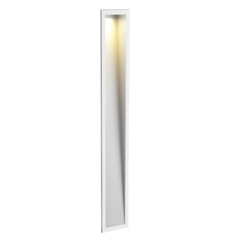 Applique murale themis 5 0 blanc aluminium brosse led l8cm h47cm wever ducre normal