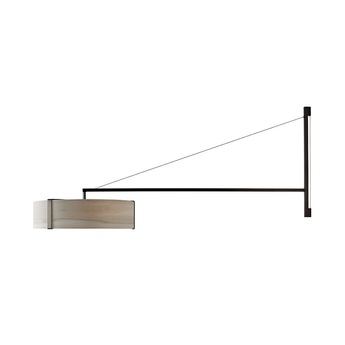 Applique murale thesis gris metal finition nickel noir led 3000k lm l125 5cm h50cm lzf normal
