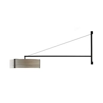 Applique murale thesis gris metal finition noir mat led 3000k lm l125 5cm h50cm lzf normal