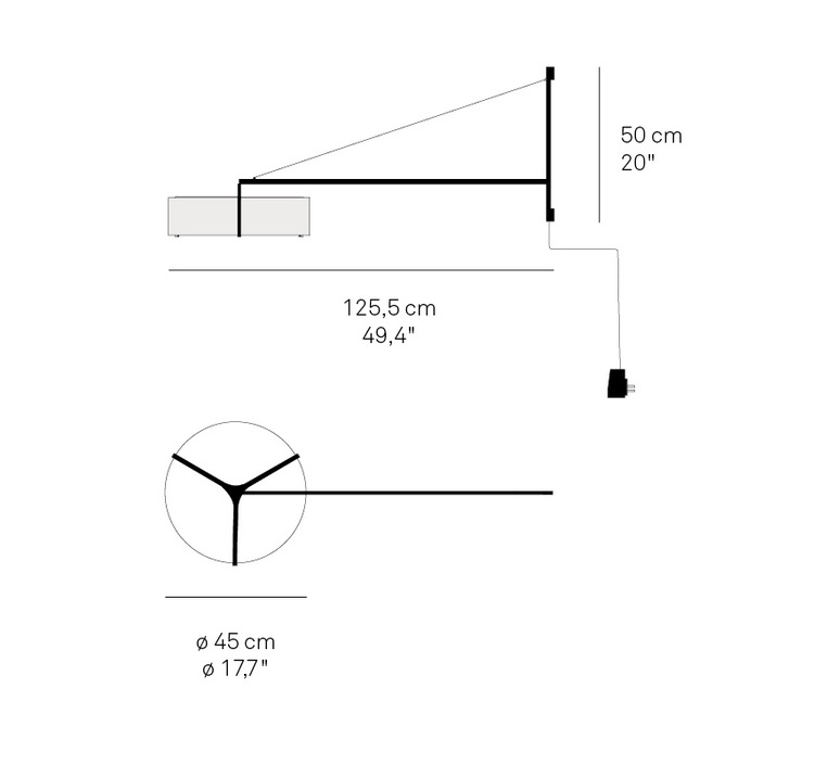 Thesis ramon esteve studio applique murale wall light  lzf thes a bn led dim 22  design signed nedgis 76160 product