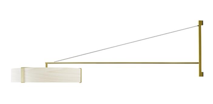 Applique murale thesis ivoire metal finition or led 3000k lm l125 5cm h50cm lzf normal