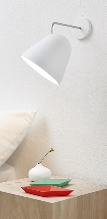 Applique murale tilt blanc h24cm nyta normal
