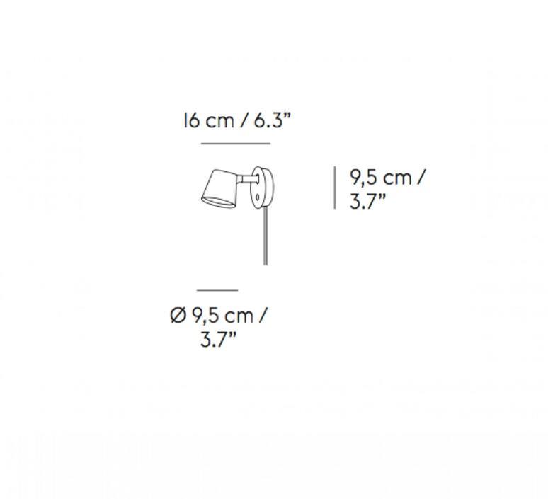 Tip jens fager applique murale wall light  muuto 22327  design signed nedgis 94155 product