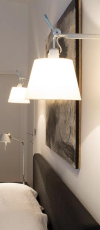 Applique murale tolomeo blanc l24cm h35 2cm artemide normal
