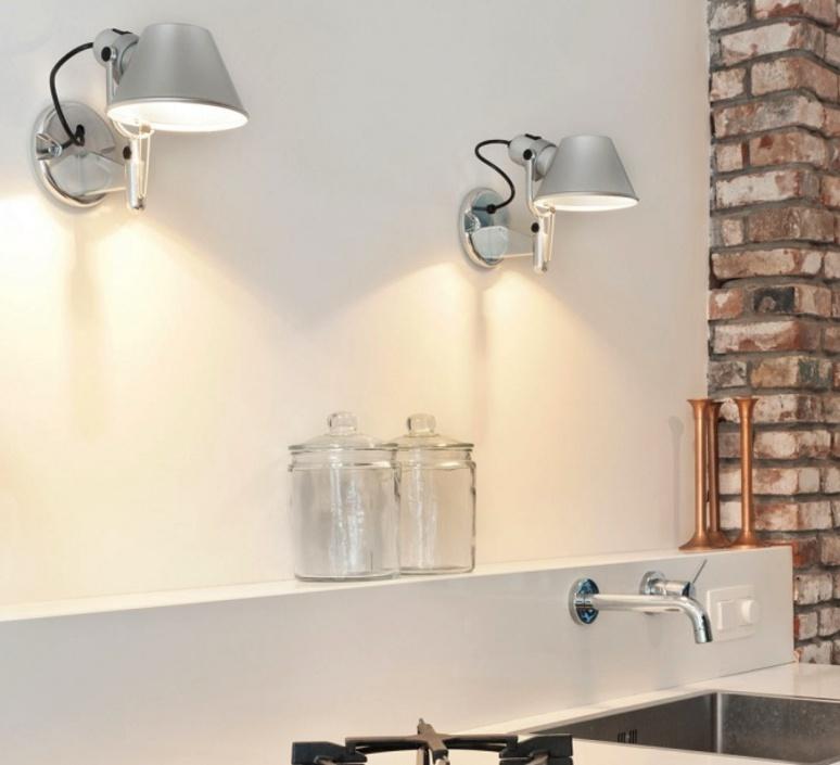 Wall light Tolomeo Faretto aluminium H20cm L21cm Artemide