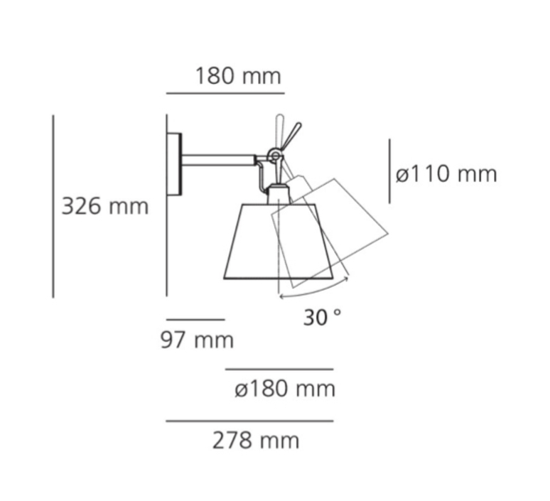 Tolomeo  front design applique murale wall light  artemide 1183010a 0781040a  design signed nedgis 79425 product
