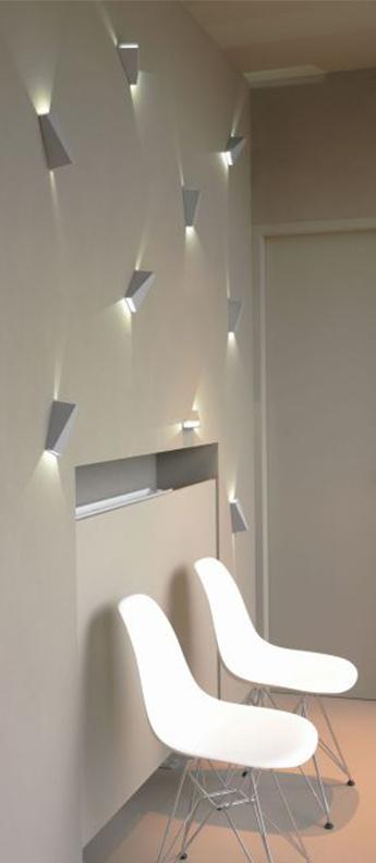 Applique murale topix ww blanc led 3000k 2x132lm l6 5cm h13 5cm delta light normal