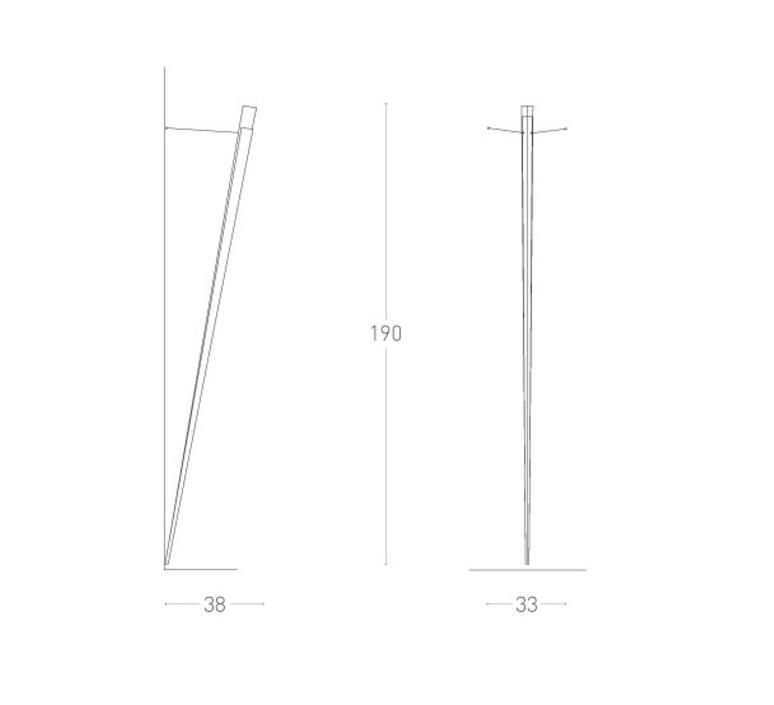 Torchere gilles derain lumen center italia torc102l luminaire lighting design signed 23154 product