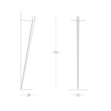 Torchere gilles derain lumen center italia torc102l luminaire lighting design signed 23154 thumb