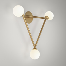 Row  applique murale wall light  atelier areti row laiton  design signed 56532 thumb