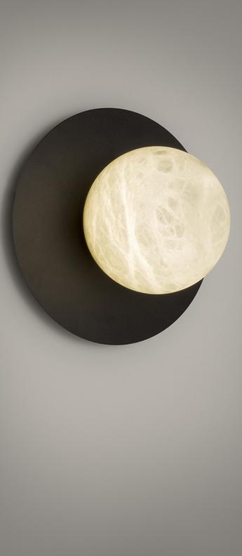 Applique murale tribeca noir led 2700k 270lm o20cm h20cm alma light normal