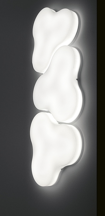 Applique murale trifoglio blanc o58cm martinelli luce normal
