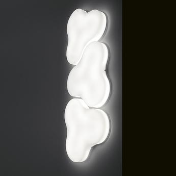 Applique murale trifoglio blanc o58cm martinelli luce normal