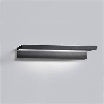 Applique murale trix w2 noir led o60cm h6cm light point normal