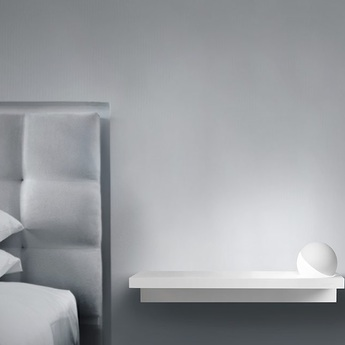 Applique murale trixy right blanc led o40cm h6cm light point normal