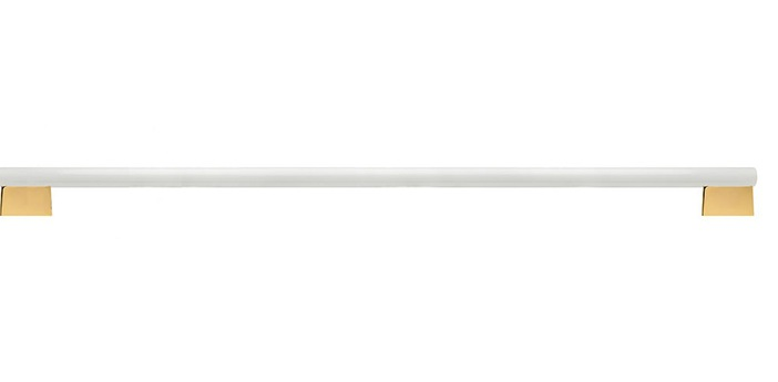 Applique murale tube blanc laiton led 2700k 1055lm dimmable l100cm h3cm zangra normal