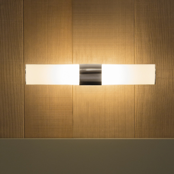 Applique murale tupla 40 blanc opalin led l11 5cm h40 5cm karboxx normal