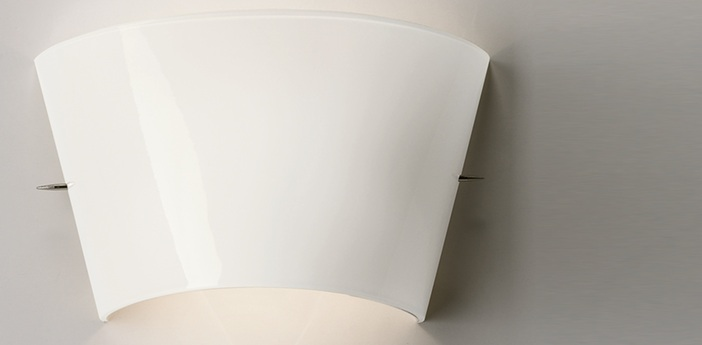 Applique murale tutu verre souffle blanc l29cm h18cm foscarini normal