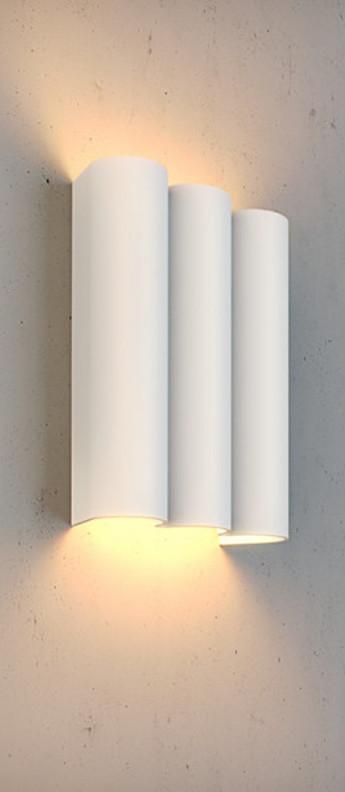 Applique murale twerkit triple blanc led 2700 k 2x550 lm o17cm h22cm dark normal