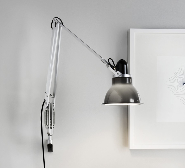 applique murale type 1228 gris fonc h53cm anglepoise luminaires nedgis. Black Bedroom Furniture Sets. Home Design Ideas