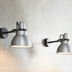 Type 1228 metallic sir kenneth grange applique murale wall light  anglepoise 32265  design signed 40858 thumb