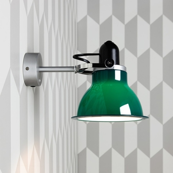 Applique murale type 1228 vert fonce h18cm anglepoise normal