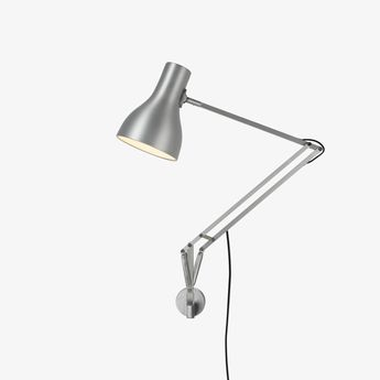 Applique murale type 75 argente o14cm h40cm anglepoise normal