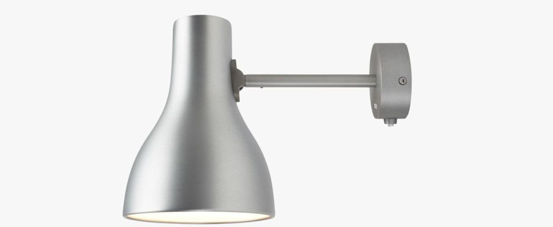 Applique murale type 75 gris interrupteur l14cm h19cm anglepoise normal