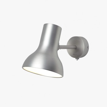 Applique murale type 75 mini metallic argent led o13cm h15cm anglepoise normal