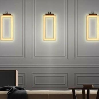 Applique murale uffizi 3 ambre led 2700k 2100lm l25cm h50cm contardi normal