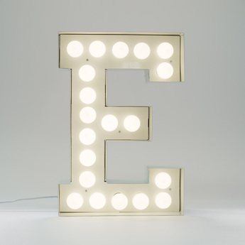 Applique murale vegaz lettre e led blanc h60cm seletti normal