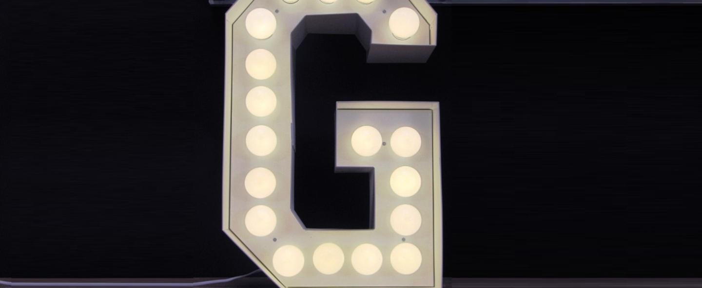 Applique murale vegaz lettre g led blanc h60cm seletti normal