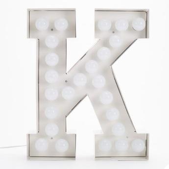 Applique murale vegaz lettre k blanc l40cm h60cm seletti normal