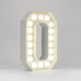 Applique murale vegaz lettre o led blanc h60cm seletti normal