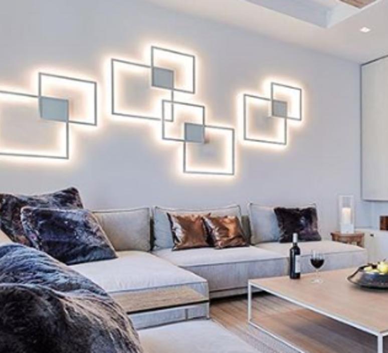 applique murale et plafonnier venn 1 0 blanc led. Black Bedroom Furniture Sets. Home Design Ideas