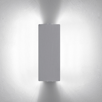 Applique murale volet pivotant double aluminium led 3000k 2000lm l34cm h13cm nemo lighting normal