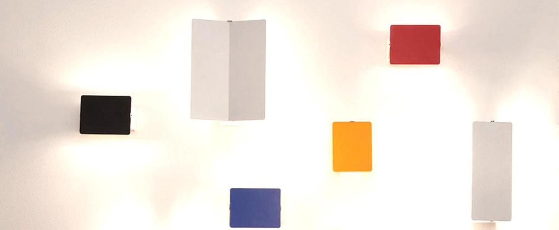 Applique murale volet pivotant double blanc led l34cm h13cm nemo lighting normal