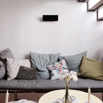 Applique murale volet pivotant double noir led 3000k 2000lm l34cm h13cm nemo lighting normal